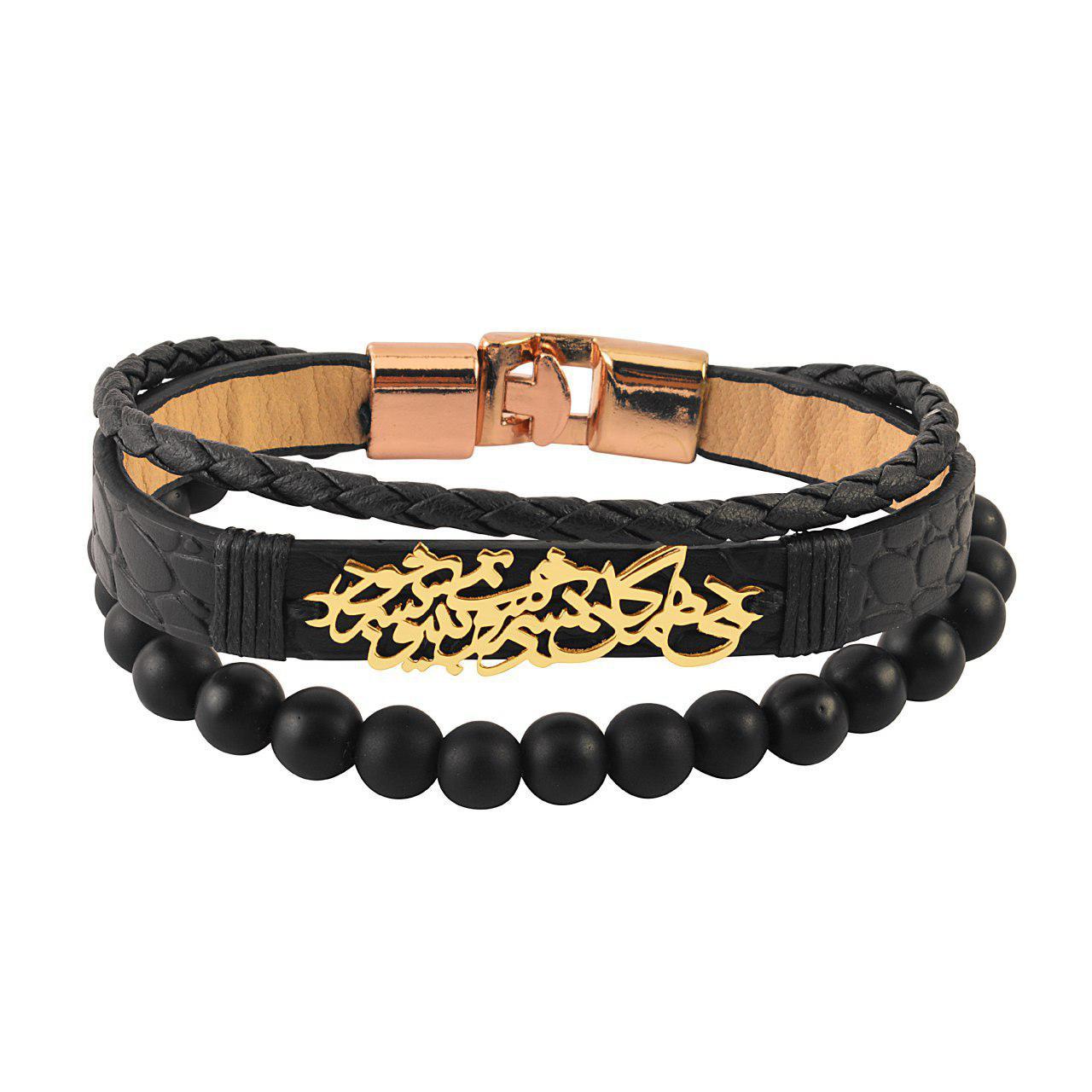 دستبند مردانه کابوک طرح شعر کد C0195