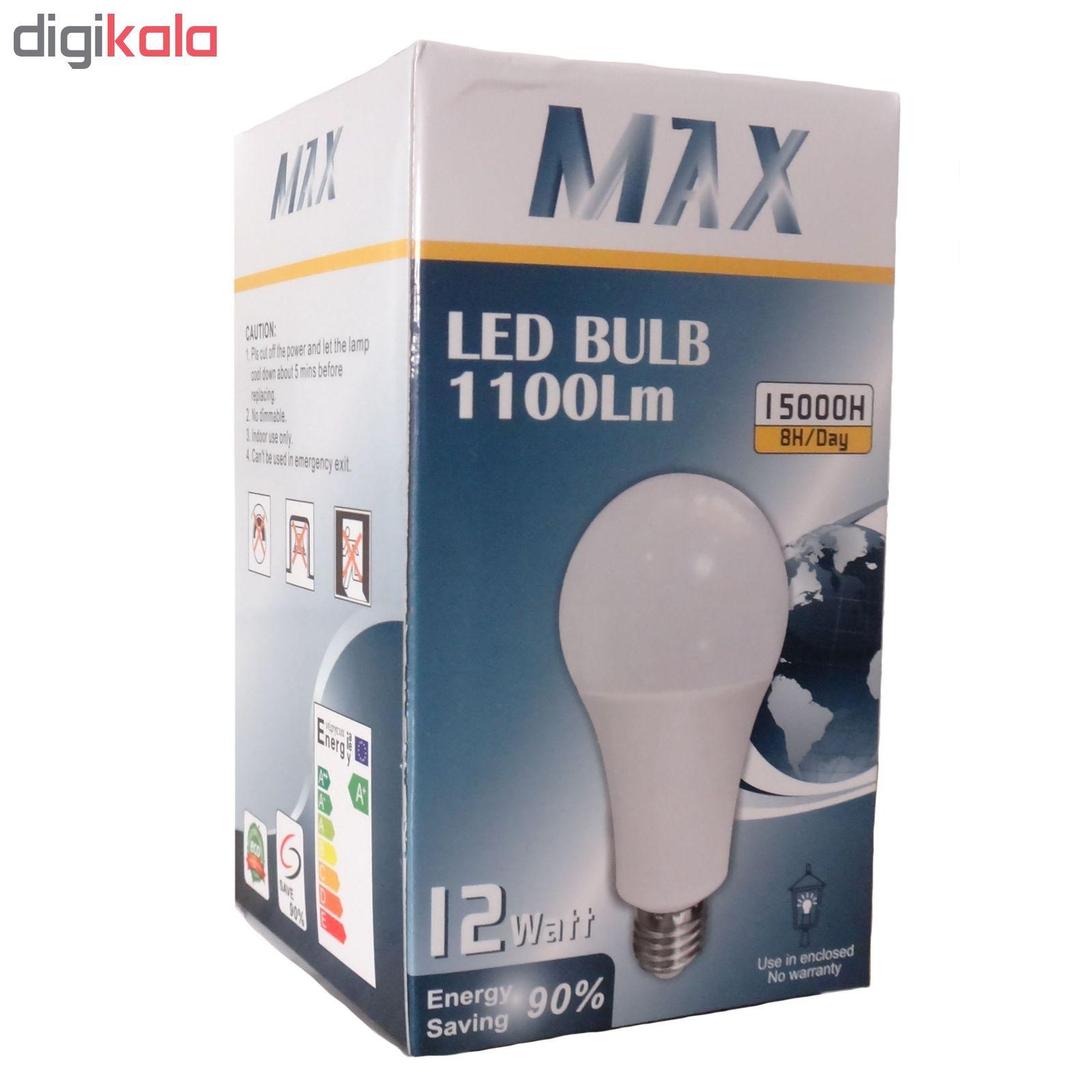 لامپ ال ای دی 12 وات مکس مدل IP50 پایه E27 main 1 2