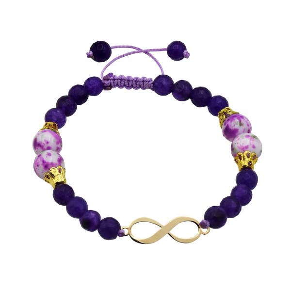 دستبند طلا 18 عیار زنانه آمانژ طرح بینهایت کد 472D2918