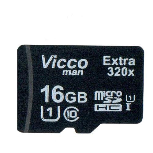 کارت حافظه microSDHC ویکومن مدل Extre 320X کلاس 10 استاندارد UHS-I U1 سرعت48MBps ظرفیت 16 گیگابایت