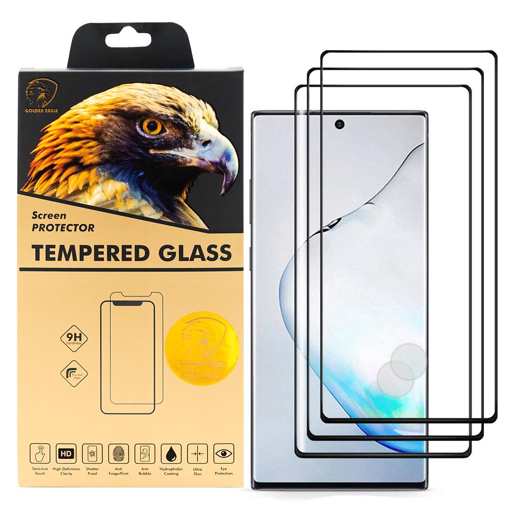 محافظ صفحه نمایش گلدن ایگل مدل DFC-X3 مناسب برای گوشی موبایل سامسونگ Galaxy Note 10 Plus بسته سه عددی thumb
