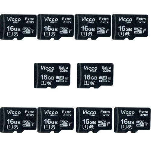 کارت حافظه microSDHC ویکومن مدل Extre 320X کلاس 10 استاندارد UHS-I U1 سرعت48MBps ظرفیت 16 گیگابایت بسته 10 عددی