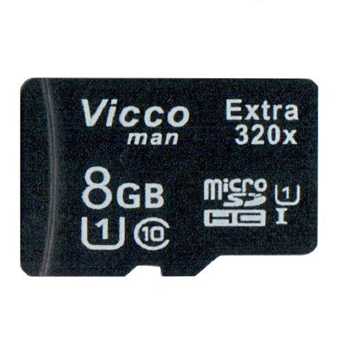 کارت حافظه microSDHC ویکومن مدل Extre 320X کلاس 10 استاندارد UHS-I U1 سرعت48MBps ظرفیت 8 گیگابایت
