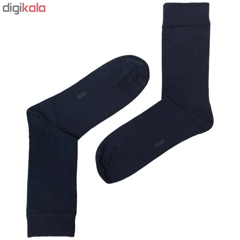 جوراب مردانه آریان نخ باف کد5131-252 بسته 3 عددی
