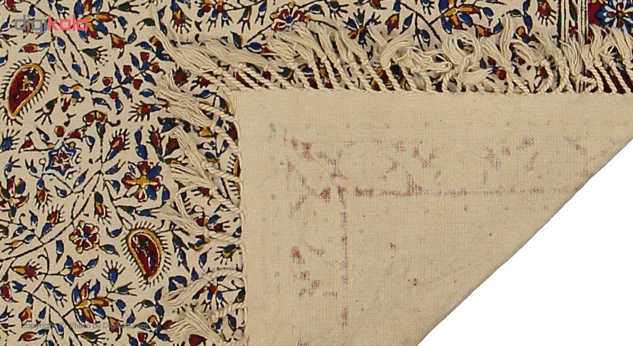 خرید                      رومیزی قلمکار طرح گل ریز کد 27 سایز 40 × 40 سانتی متر
