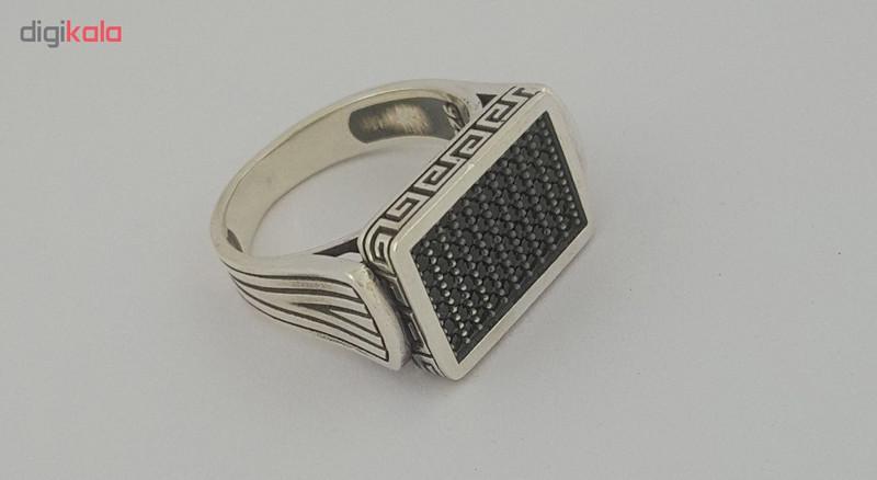 انگشتر نقره مردانه بلو استون کد 1038-63