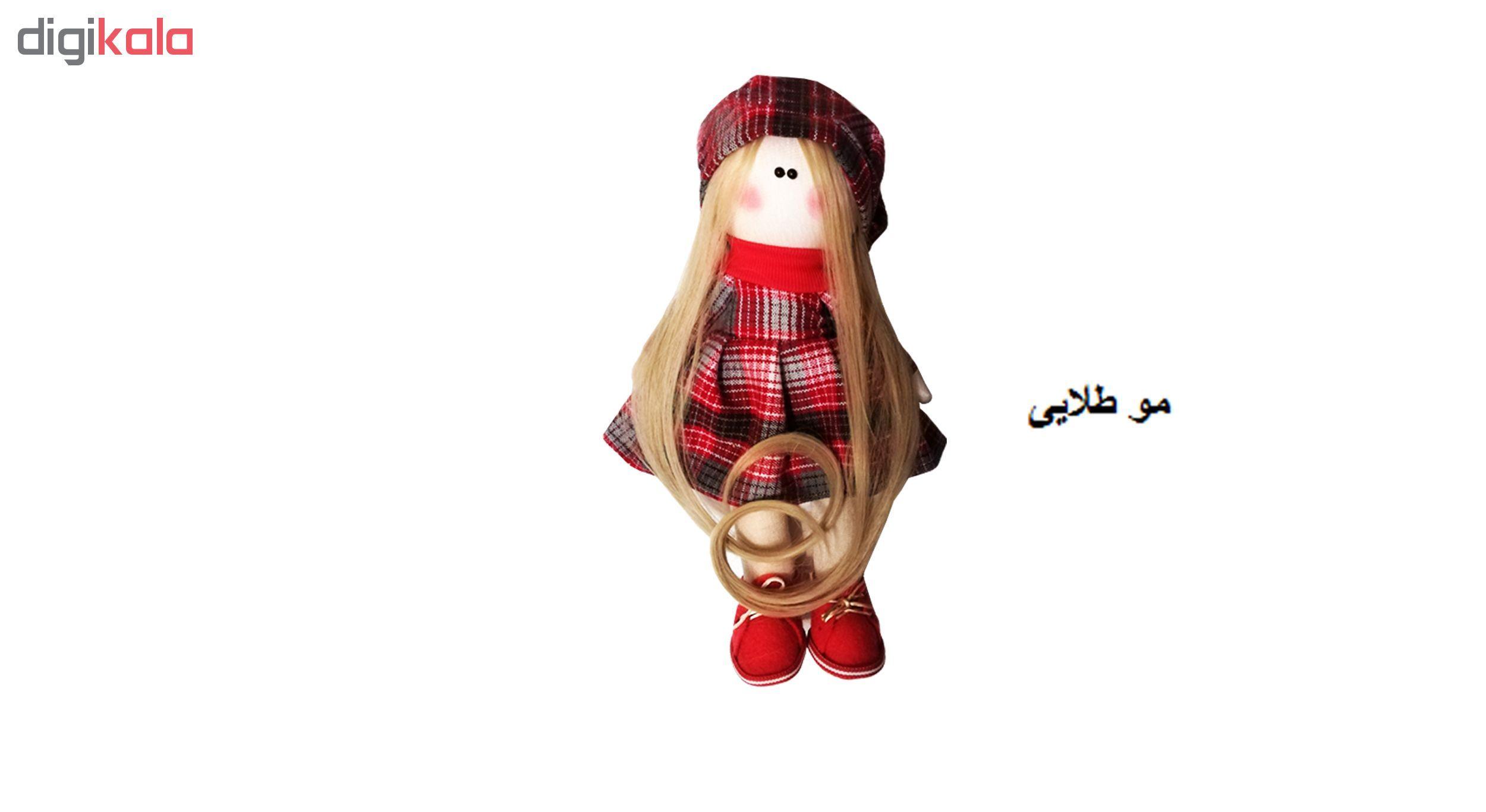 عروسک روسی طرحکلاه قرمز کد MRK12 ارتفاع 32 سانتی متر