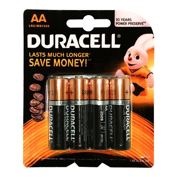 باتری قلمی دوراسل مدل Plus Power بسته 4 عددی