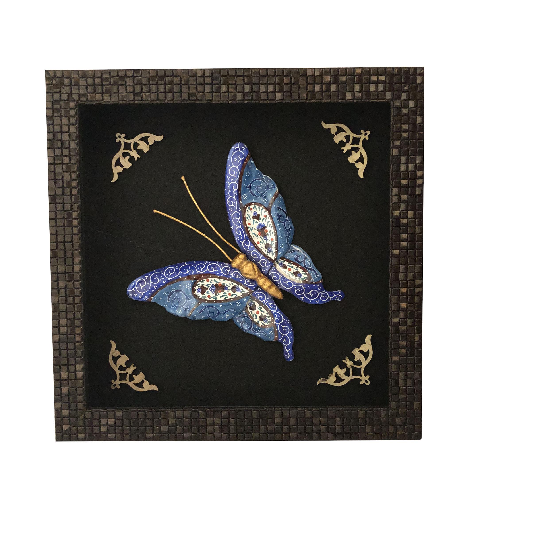 تابلو میناکاری طرح پروانه کد 11