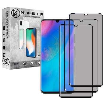 محافظ صفحه نمایش حریم شخصی مسیر مدل MGFPV-3 مناسب برای گوشی موبایل هوآوی Nova 4e  بسته سه عددی