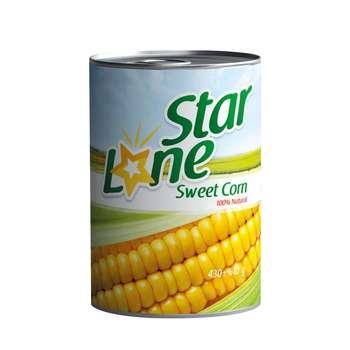 کنسرو ذرت شیرین لون استار مقدار 430 گرم