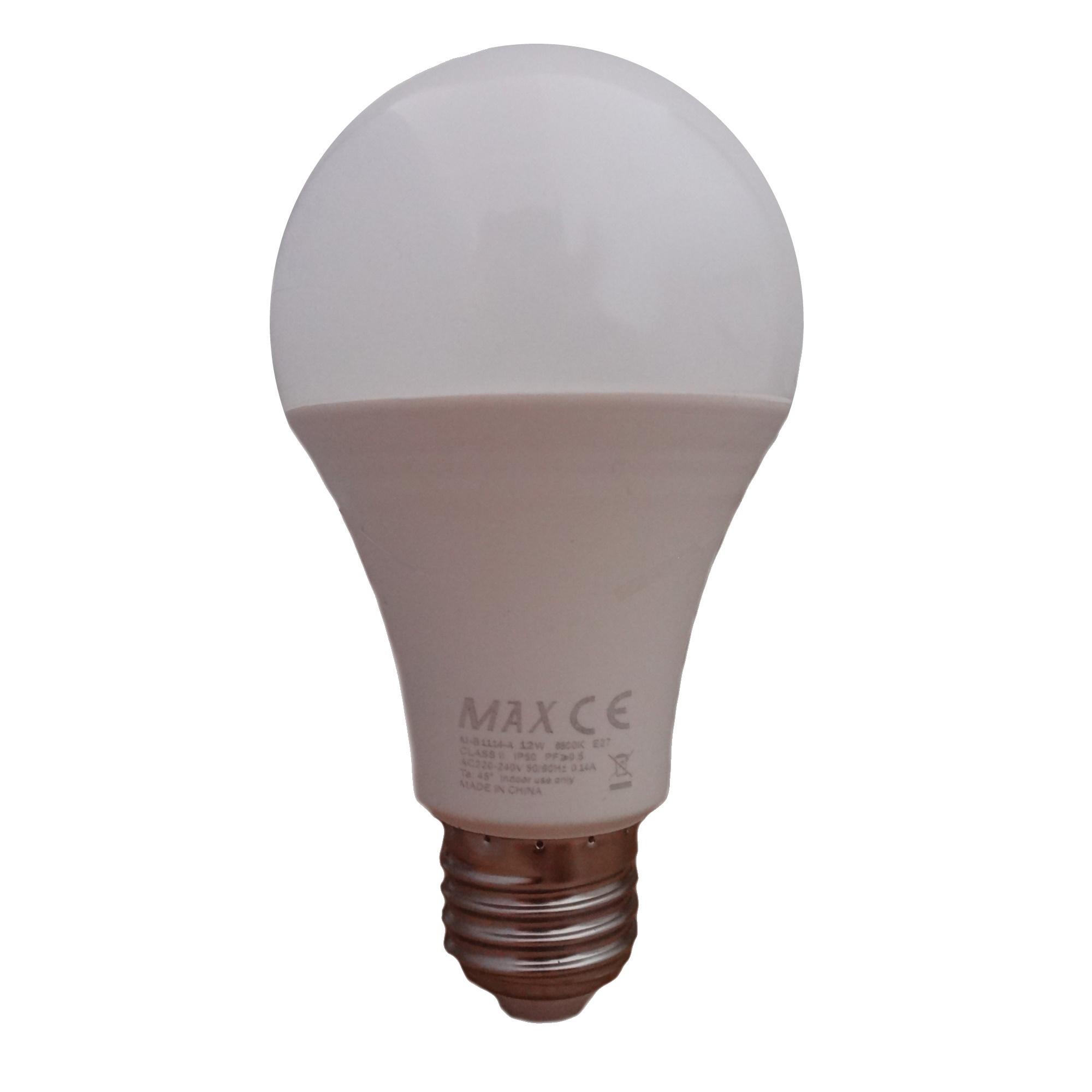 لامپ ال ای دی 12 وات مکس مدل IP50 پایه E27