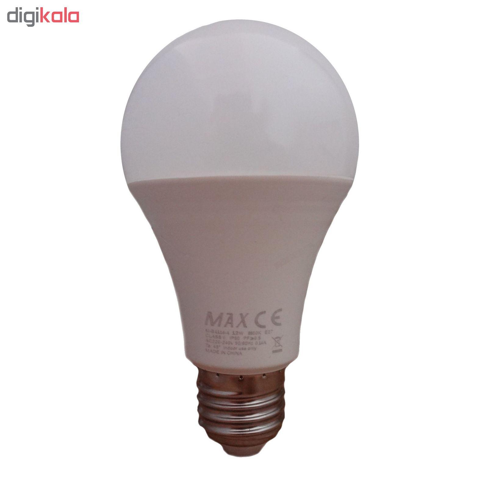 لامپ ال ای دی 12 وات مکس مدل IP50 پایه E27 main 1 1