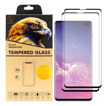 محافظ صفحه نمایش گلدن ایگل مدل DFC-X2 مناسب برای گوشی موبایل سامسونگ Galaxy S10 Plus بسته دو عددی
