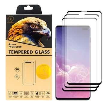 محافظ صفحه نمایش گلدن ایگل مدل DFC-X3 مناسب برای گوشی موبایل سامسونگ Galaxy S10 Plus بسته سه عددی