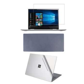 محافظ صفحه نمایش و پشت لپ تاپ مدل QH-224 سایز 15.6 اینچی به همراه محافظ کیبورد مجموعه 3 عددی