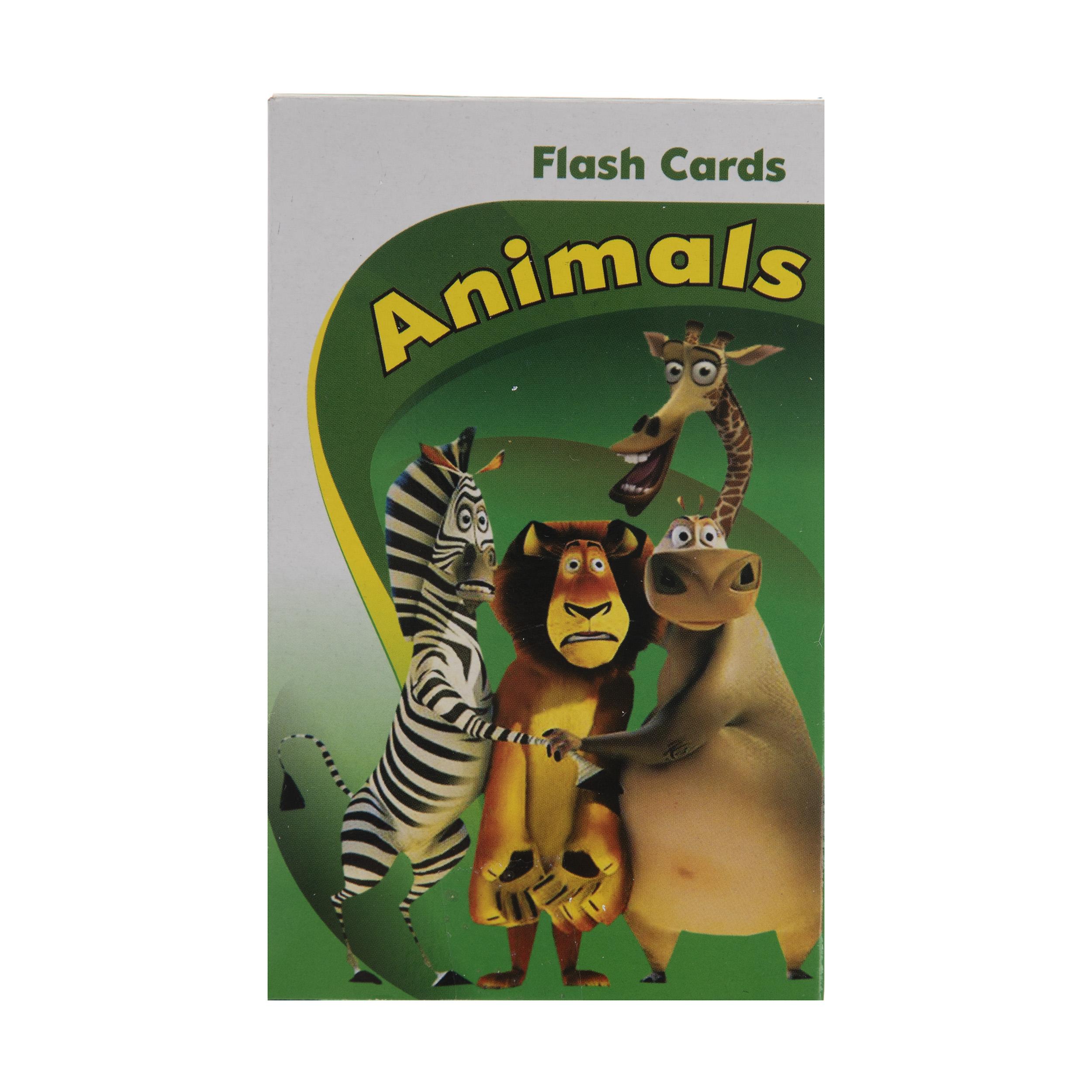 فلش کارت آموزش حیوانات به زبان انگلیسی نشر برجیس