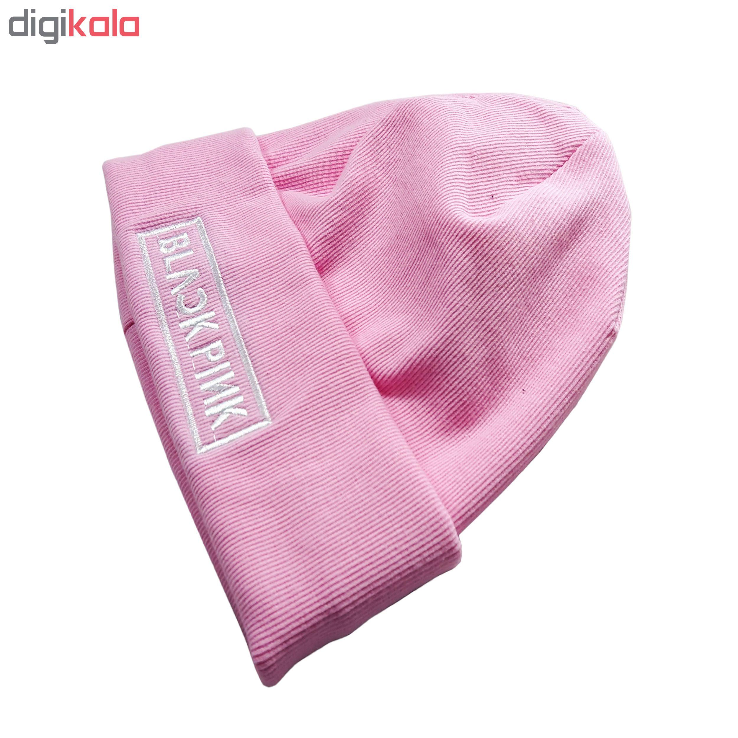 کلاه بافتنی طرح Black Pink کد KO-20