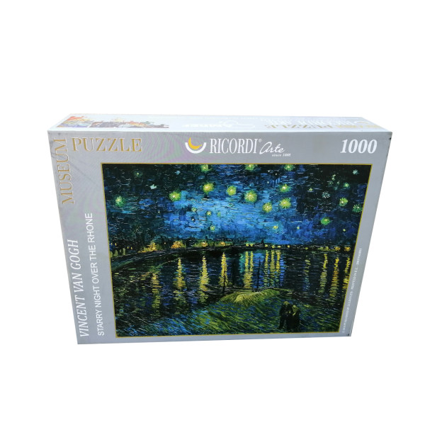 پازل 1000 تکه ریکوردی  طرح شب درخشان در کنار رودخانه راین کد 910
