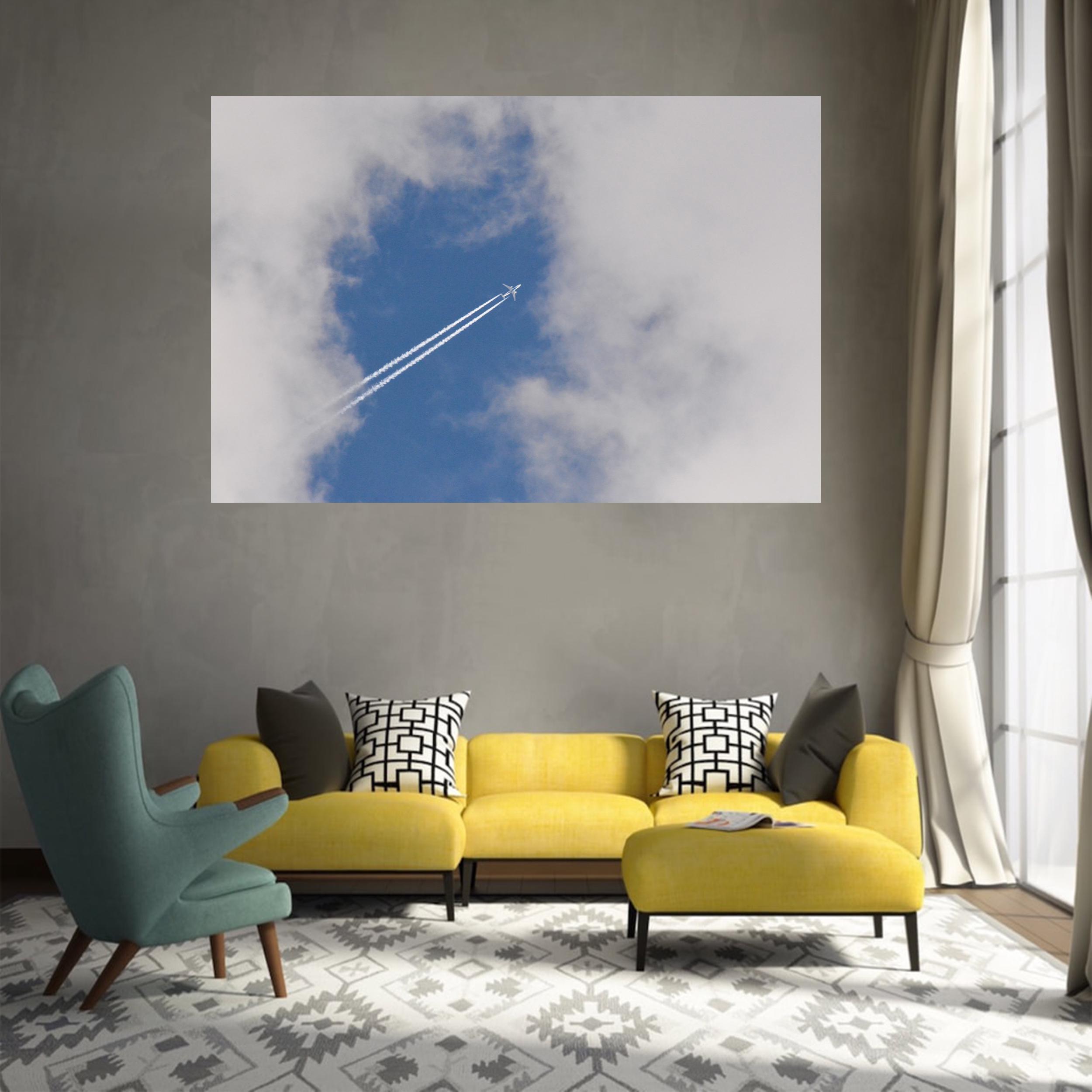 تابلو شاسی طرح تنها در آسمان کد 0134
