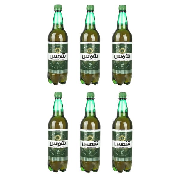 نوشیدنی مالت بدون الکل استوایی شمس حجم 1 لیتر بسته 6 عددی