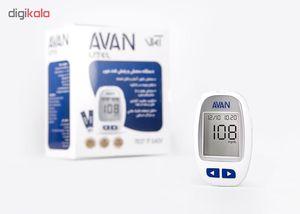 دستگاه تست قندخون آوان مدل AGM01 به همراه نوار تست قند خون آوان مدل AGMO1 مجموعه 2 عددی