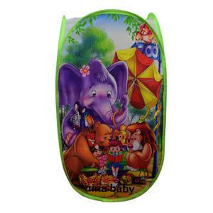 سبد اسباب بازی نینا بی بی طرح حیوانات مدل 5413