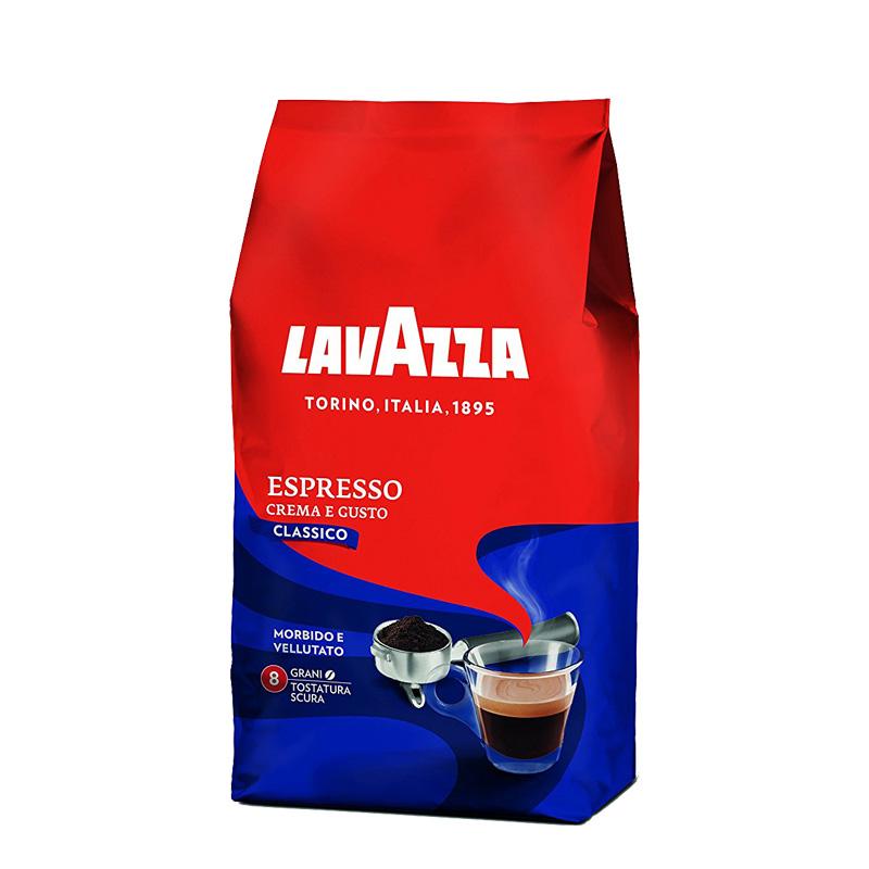 بسته دانه قهوه لاواتزا مدل crema e gusto classico مقدار 1000 گرم