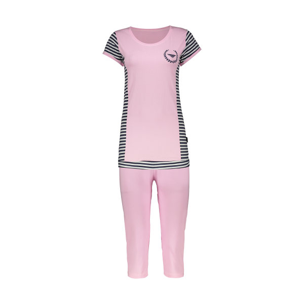 ست تی شرت و شلوارک راحتی زنانه کد 21133