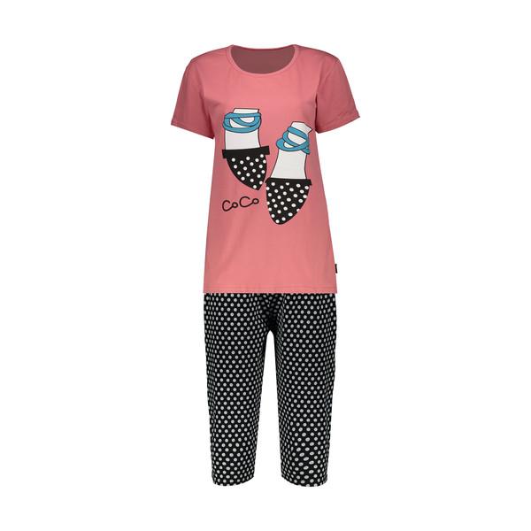 ست تی شرت و شلوارک راحتی زنانه کد 12641