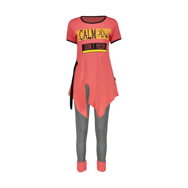 ست تی شرت و شلوار راحتی زنانه کد 22848