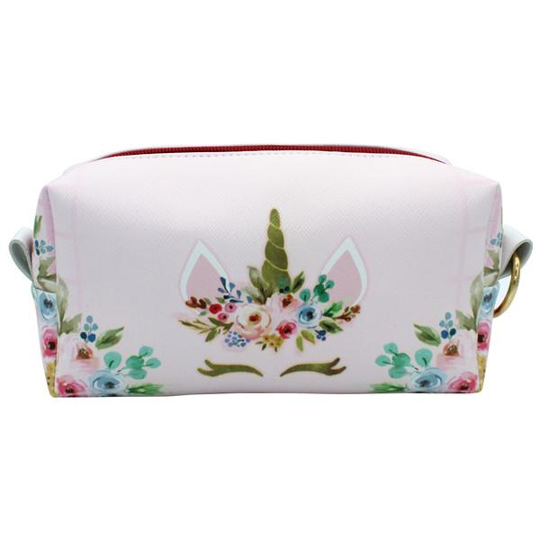 کیف لوازم آرایش زنانه طرح یونیکورن کد IDM 144