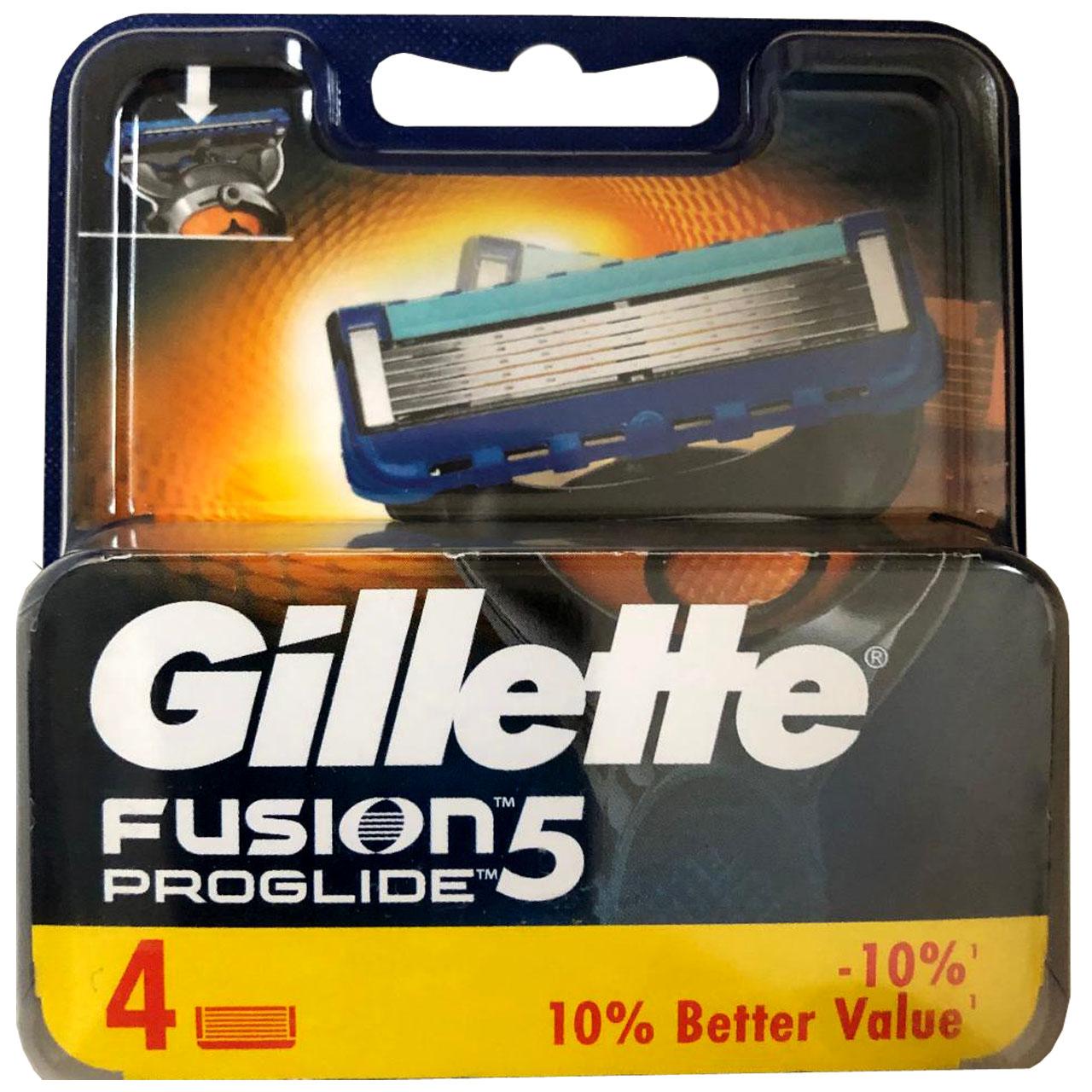 تیغ یدک ژیلت مدل Fusion 5 Proglide بسته 4 عددی thumb