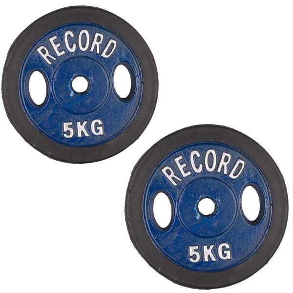 وزنه دمبل رکورد کد 1621 وزن 5 کیلوگرم بسته 2 عددی