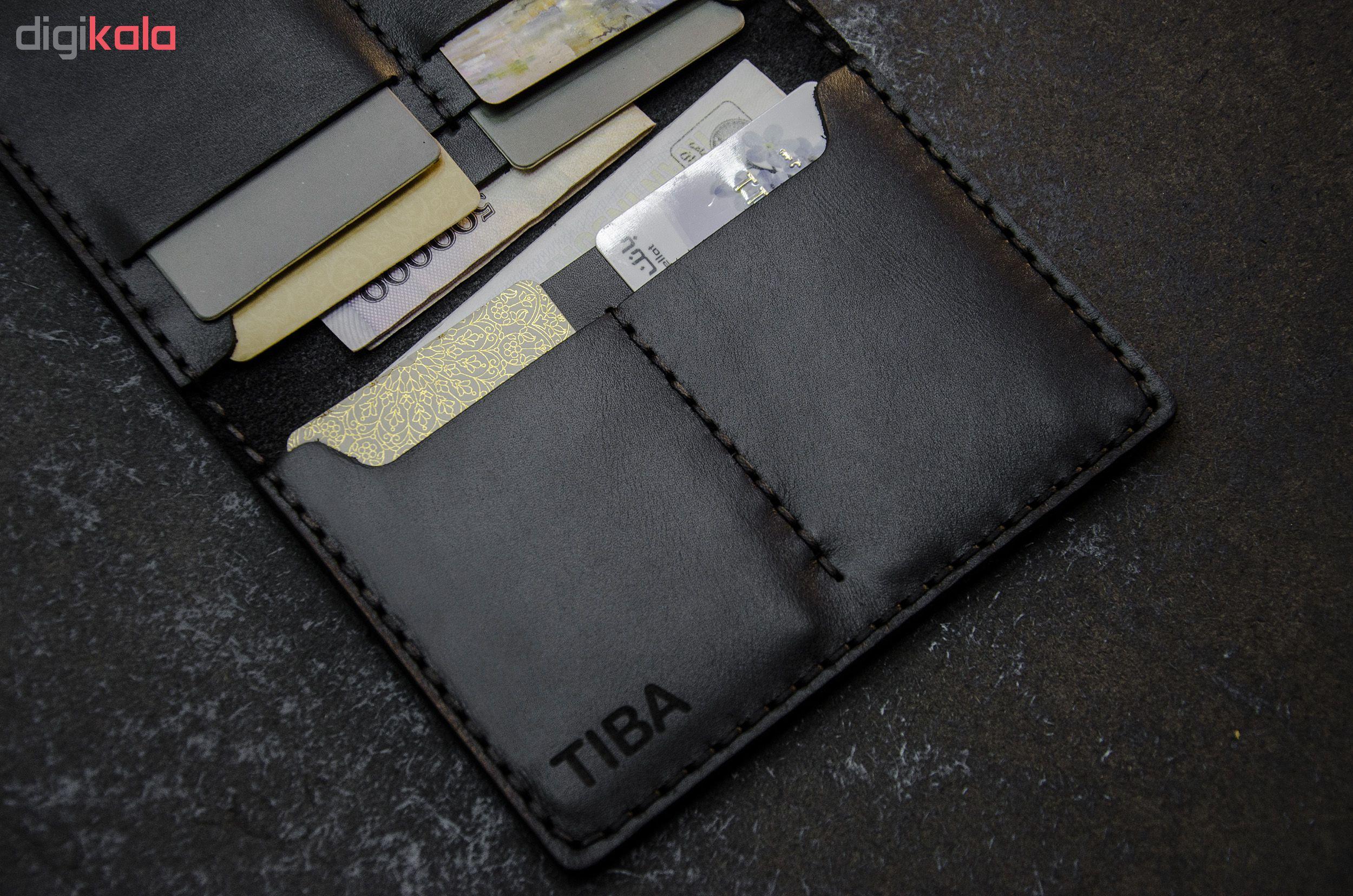 کیف مدارک چرمینه اسپرت طرح تیبا کد 72024-B