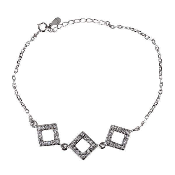 دستبند نقره زنانه مد و کلاس کد 1000504