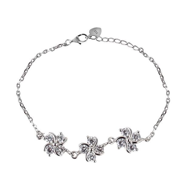 دستبند نقره زنانه مد و کلاس کد 1000505