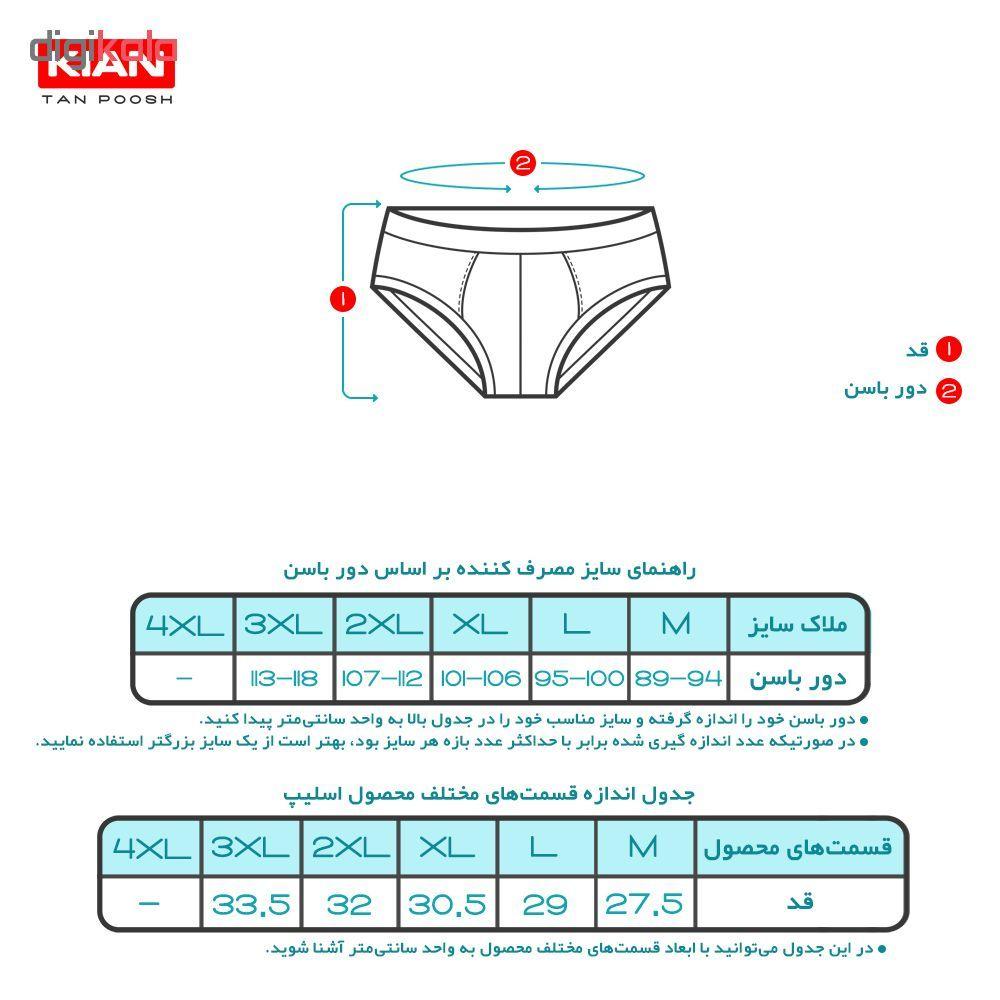 شورت مردانه کیان تن پوش مدل Rin BMRP کد ۰۲۴ مجموعه 4 عددی main 1 6
