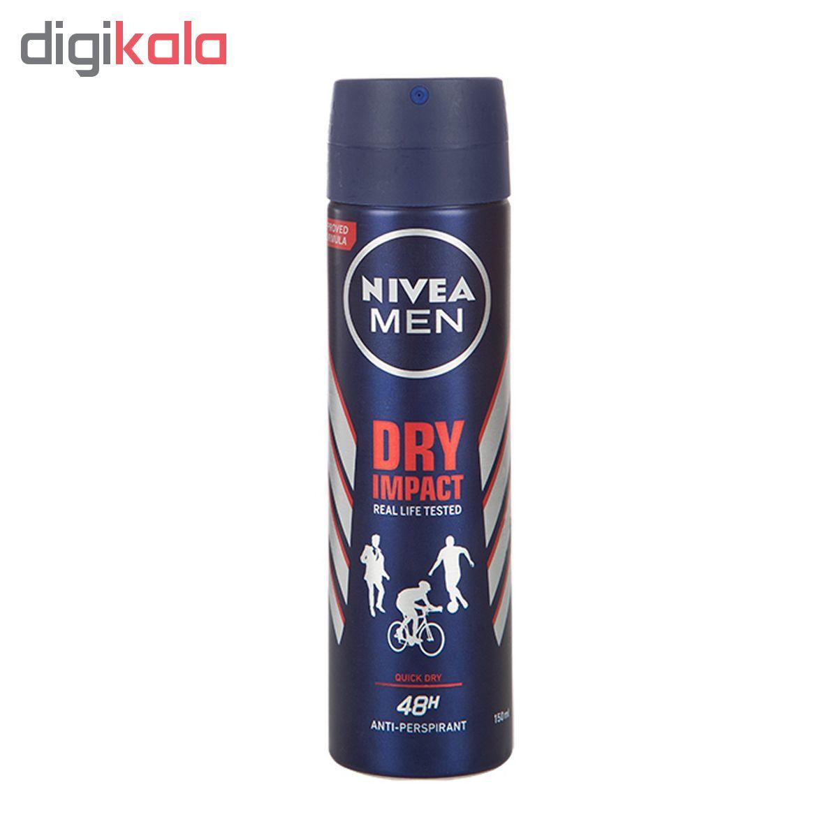 اسپری ضد تعریق مردانه نیوآ مدل Dry Impact Plus حجم 150 میلی لیتر main 1 1