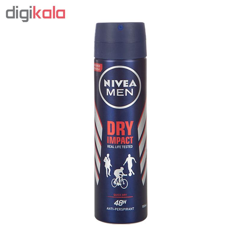 اسپری ضد تعریق مردانه نیوآ مدل Dry Impact Plus حجم 150 میلی لیتر
