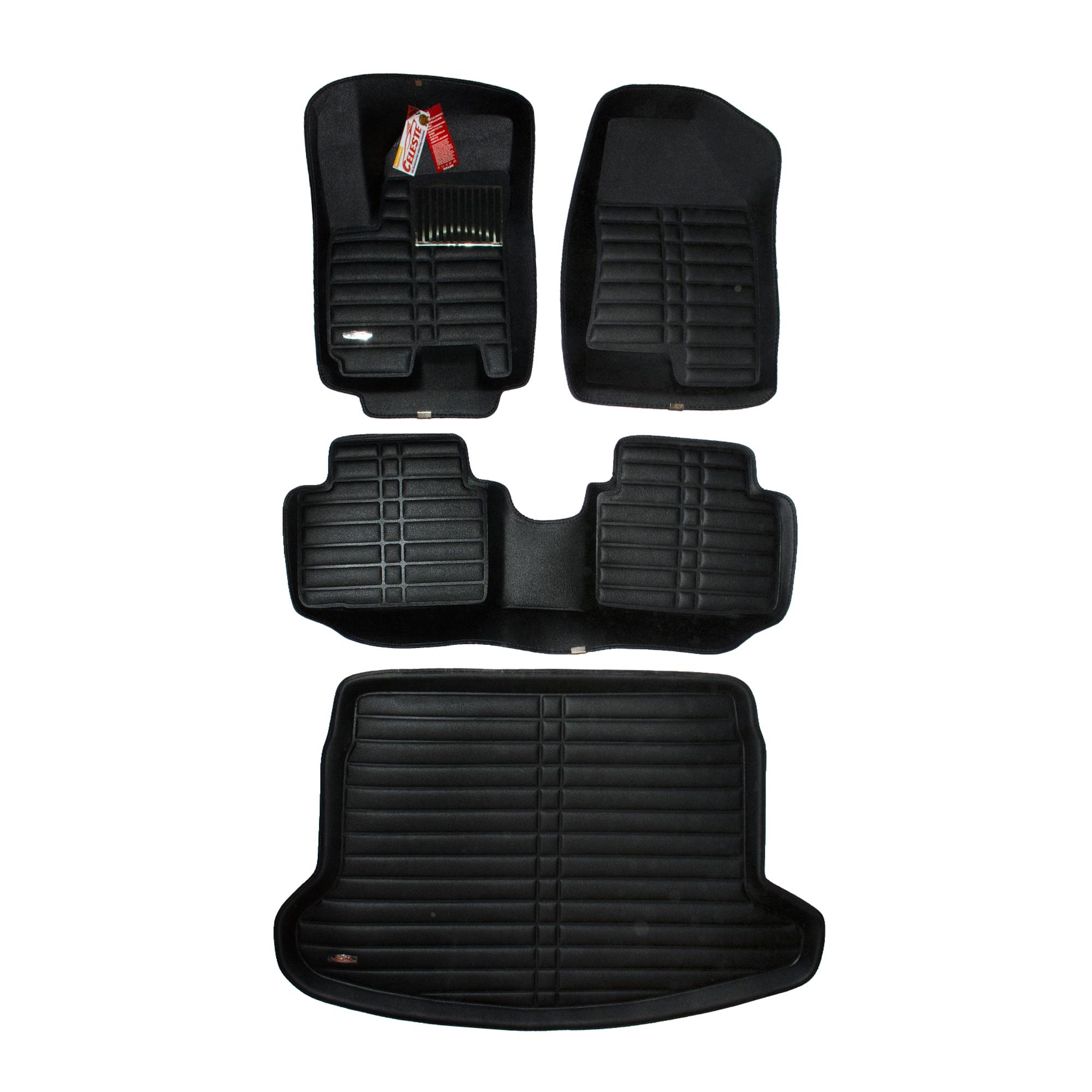 کفپوش سه بعدی خودرو سلست کد 3002 مناسب برای هایما S5 به همراه کفپوش صندوق