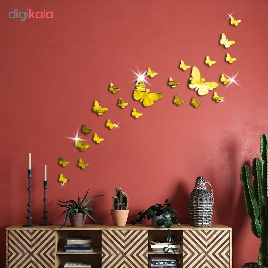 استیکر دیواری پدیده شاپ طرح پروانه مجموعه 22 عددی main 1 1