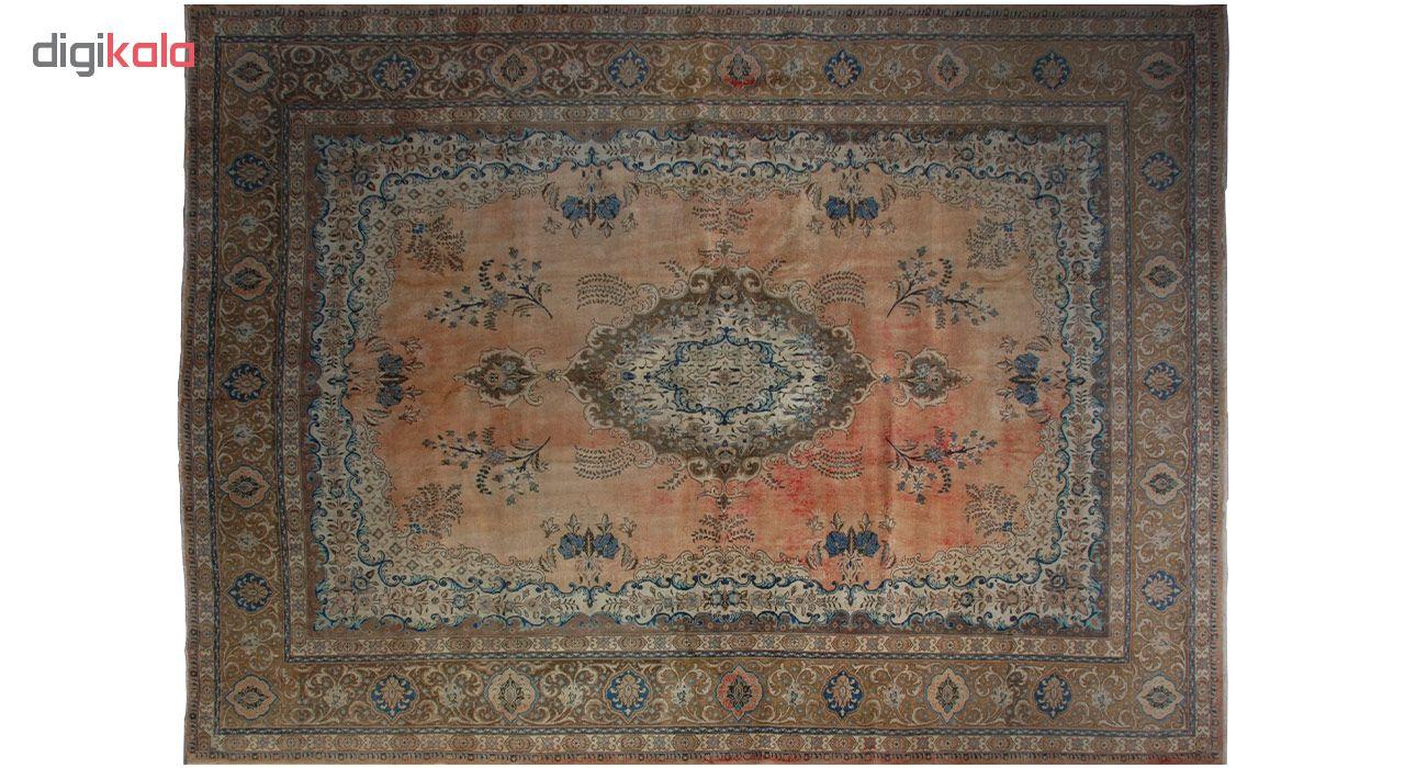 فرش دستبافت رنگ شده هفده متری فرش هریس کد 101482