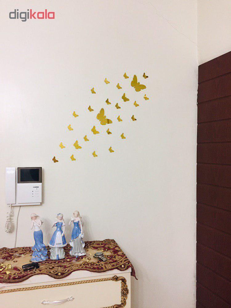 استیکر دیواری پدیده شاپ طرح پروانه مجموعه 22 عددی main 1 4