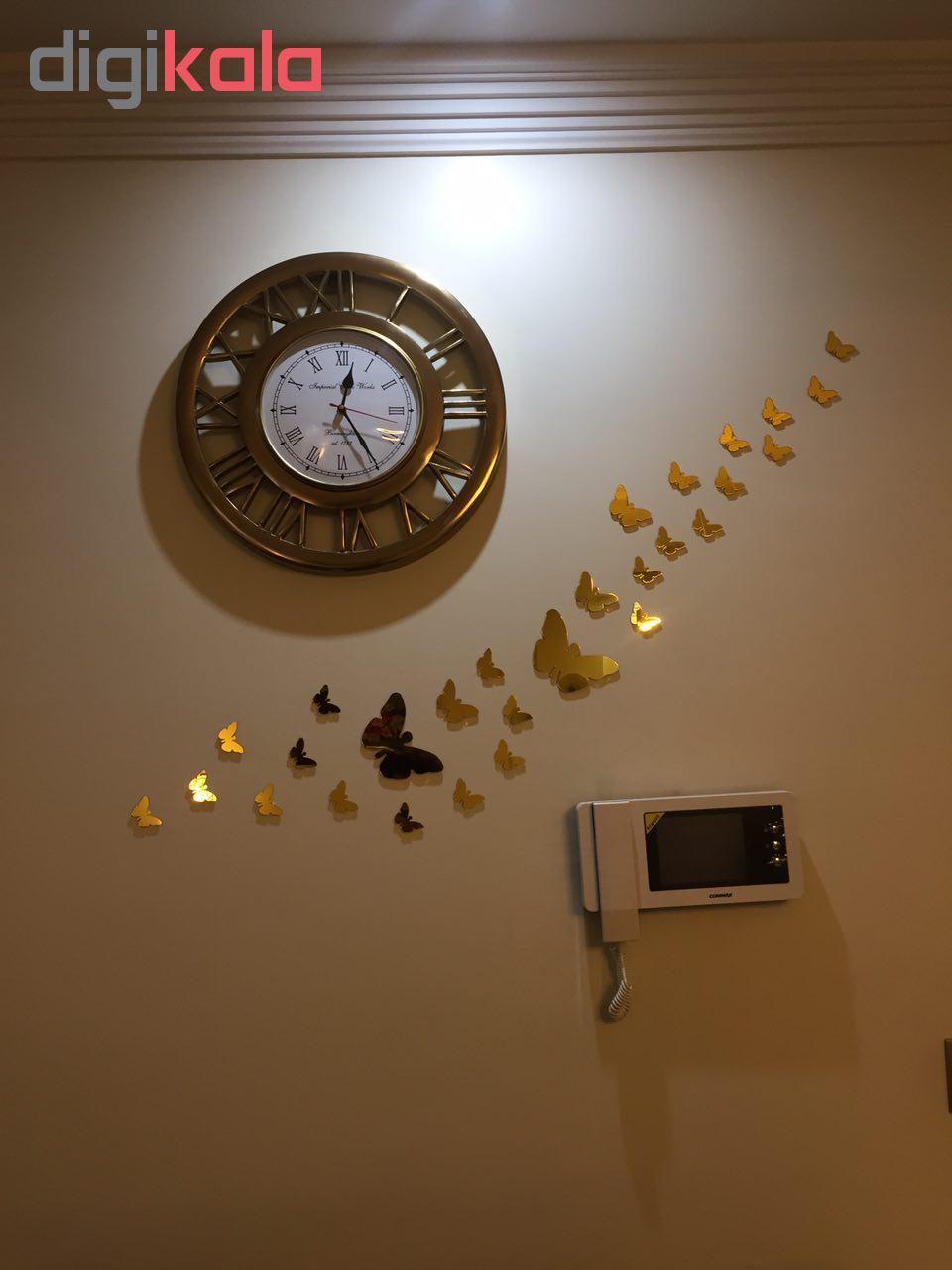 استیکر دیواری پدیده شاپ طرح پروانه مجموعه 22 عددی main 1 2