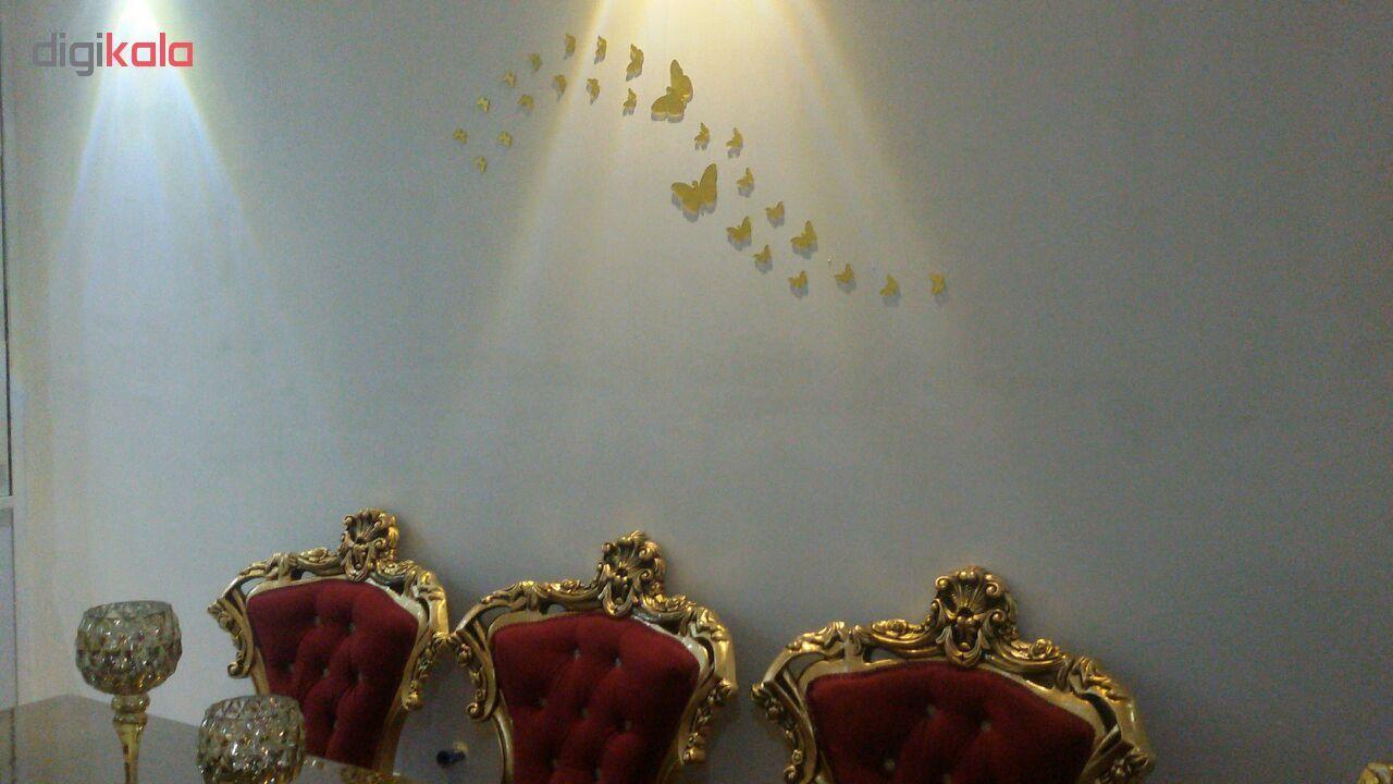 استیکر دیواری پدیده شاپ طرح پروانه مجموعه 22 عددی main 1 6