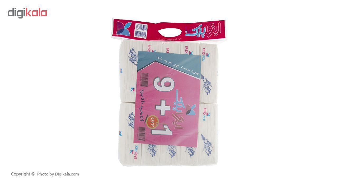 دستمال کاغذی 100 برگ ایزی پیک مدل King - بسته 10 عددی main 1 1
