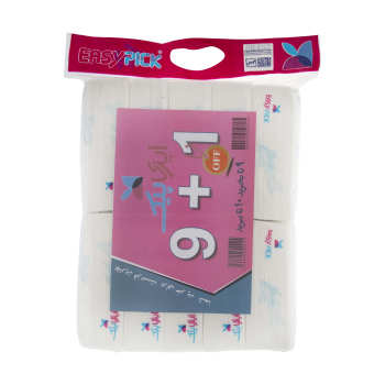دستمال کاغذی 200 برگ ایزی پیک مدل Fish بسته 10 عددی