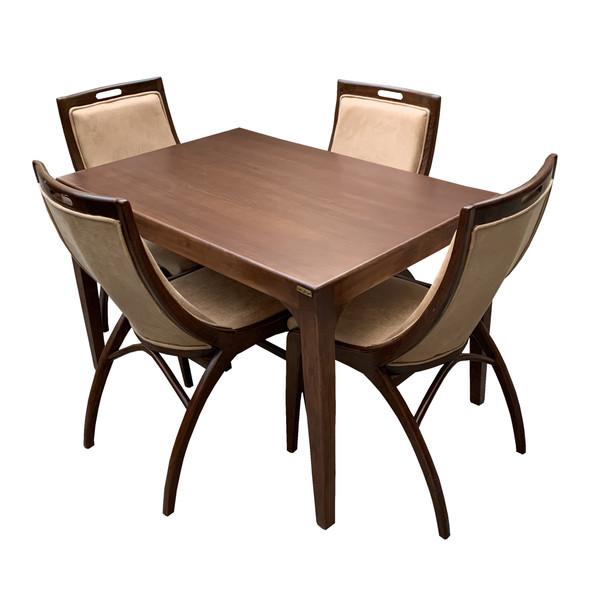 میز و صندلی ناهار خوری اسپرسان چوب کد Sm59