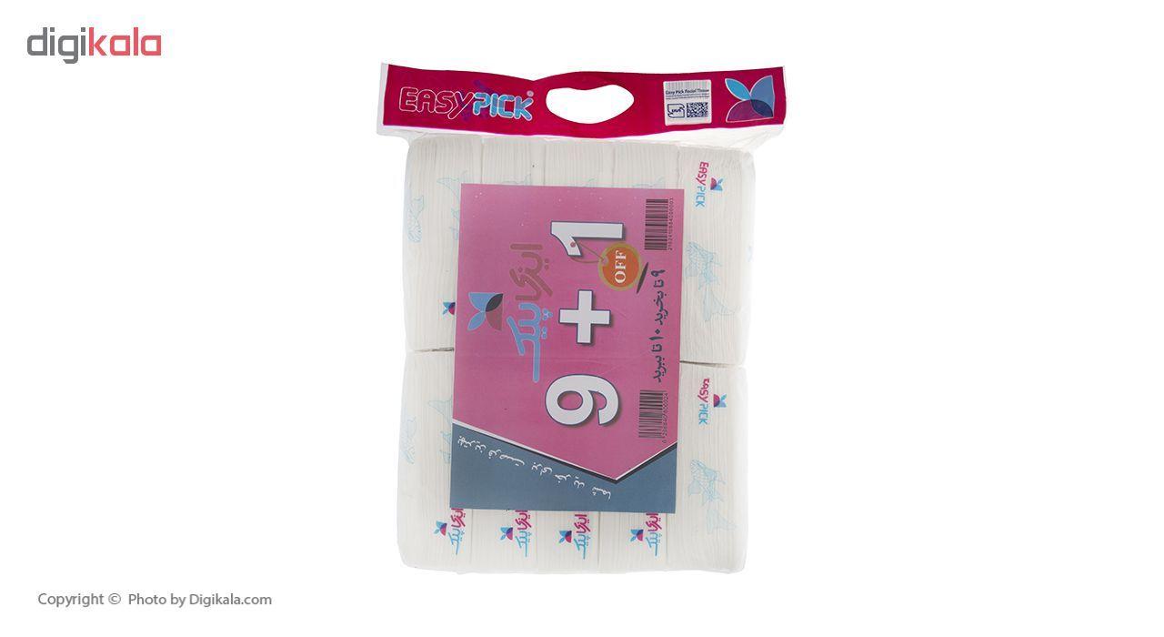 دستمال کاغذی 100 برگ ایزی پیک مدل Fish بسته 10 عددی main 1 1